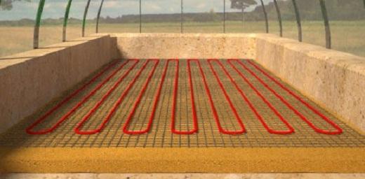 Схема прогрева почвы в теплице электроспиралями